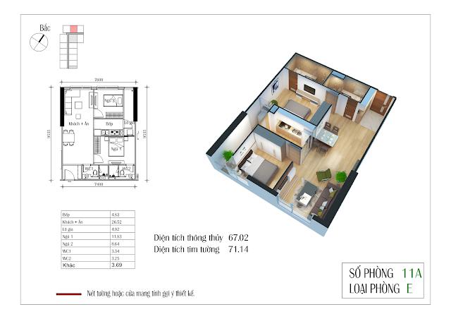 Thiết kế căn hộ 11A Eco-green city