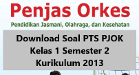 Soal PTS PJOK Kelas 1 Semester 2 Kurikulum 2013