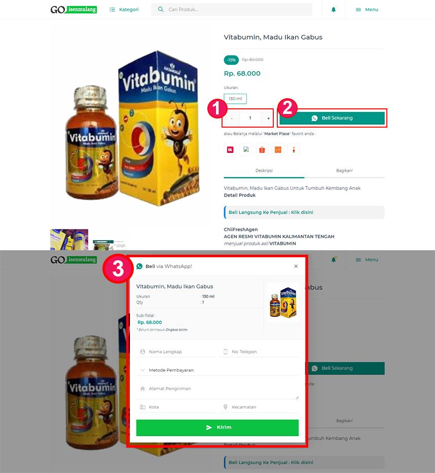 Cara Membeli Produk di Goisenmulang.com