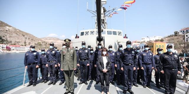 Ενόχλησε τον Ακάρ η επίσκεψη Σακελλαροπούλου: Το Καστελλόριζο πρέπει να αποστρατικοποιηθεί