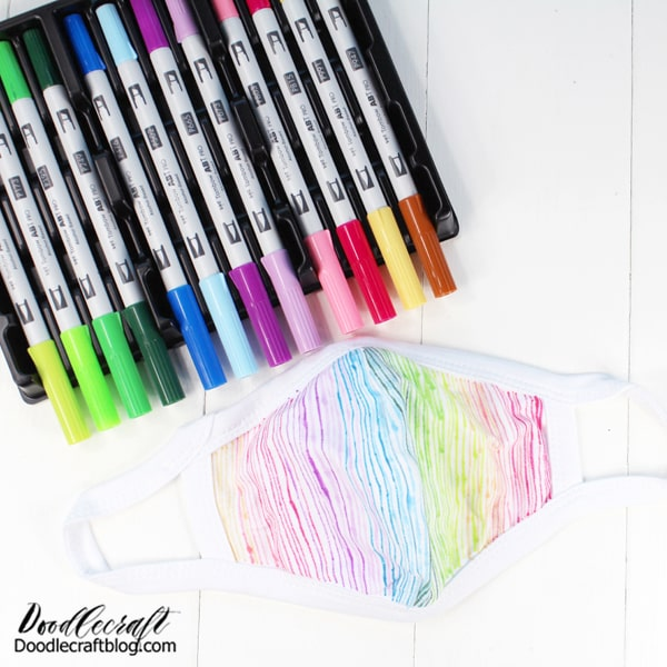 Rotate through all your favorite ABT PRO Marker colors to make a cool rainbow effect across the mask.