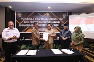Sukseskan Pilkada 2020, Pemprov Hibahkan Dana Rp500 Juta Untuk KPU NTB