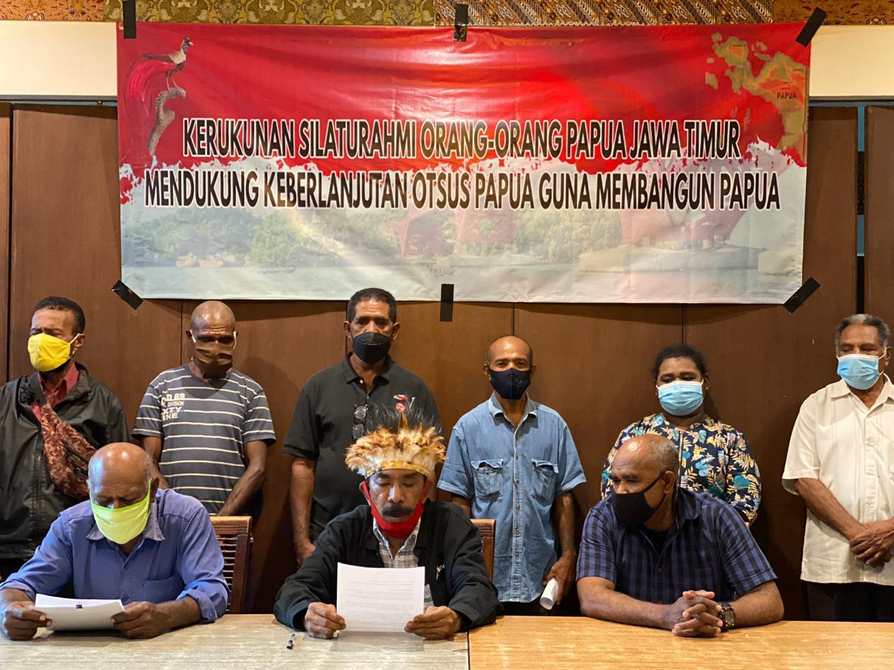 Forum Komunikasi Orang Orang Papua Jatim Mendukung Pelaksanaan Otsus Jilid II