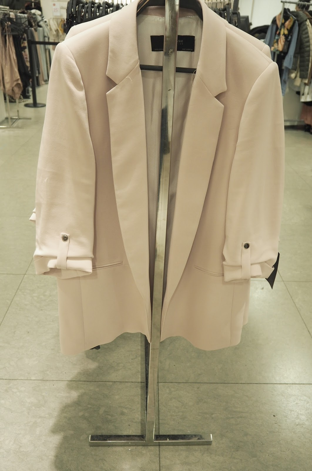 Zara - Roll up pink jacket
