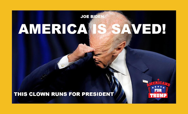 "Memes: Joe Biden ""America is Saved!"" This clown runs for President"