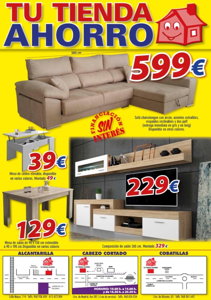 Tu tienda ahorro nuevo folleto de ofertas for Tu muebles catalogo