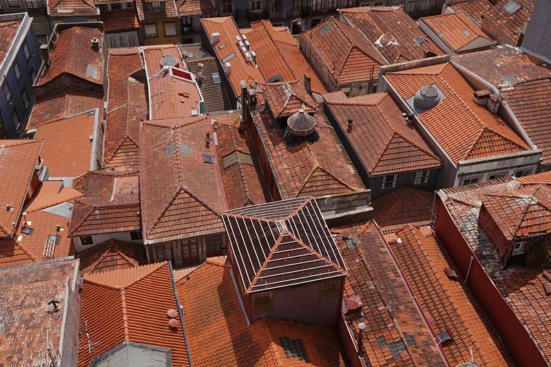 Dächer/ Blick vom Igreja dos Clérigos Porto
