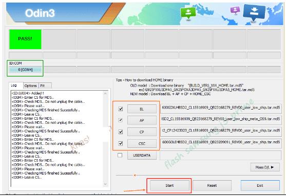 menambahkan file binary samsung j3 pro