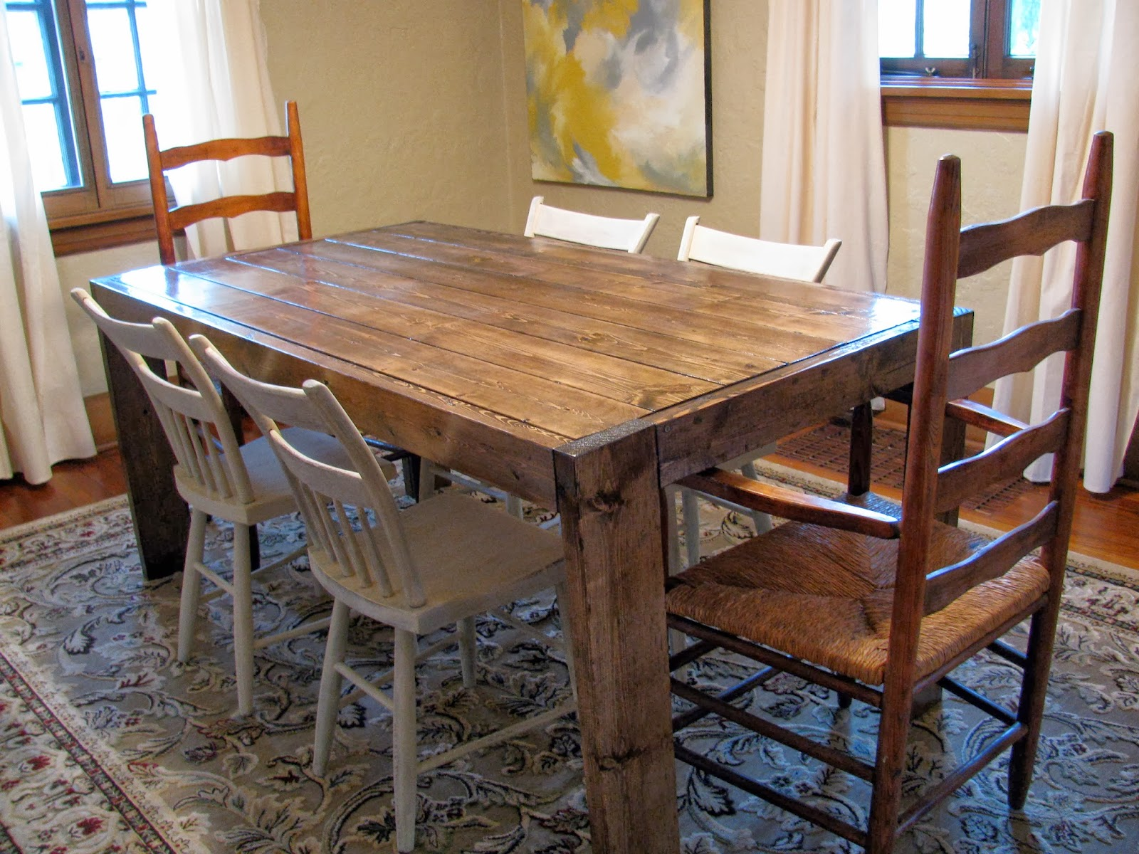making a dining room table | Build your own dining room table