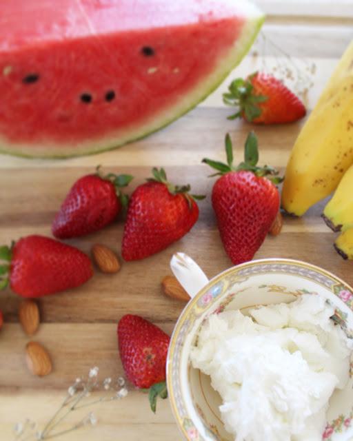 Smoothie de sandía y fresa