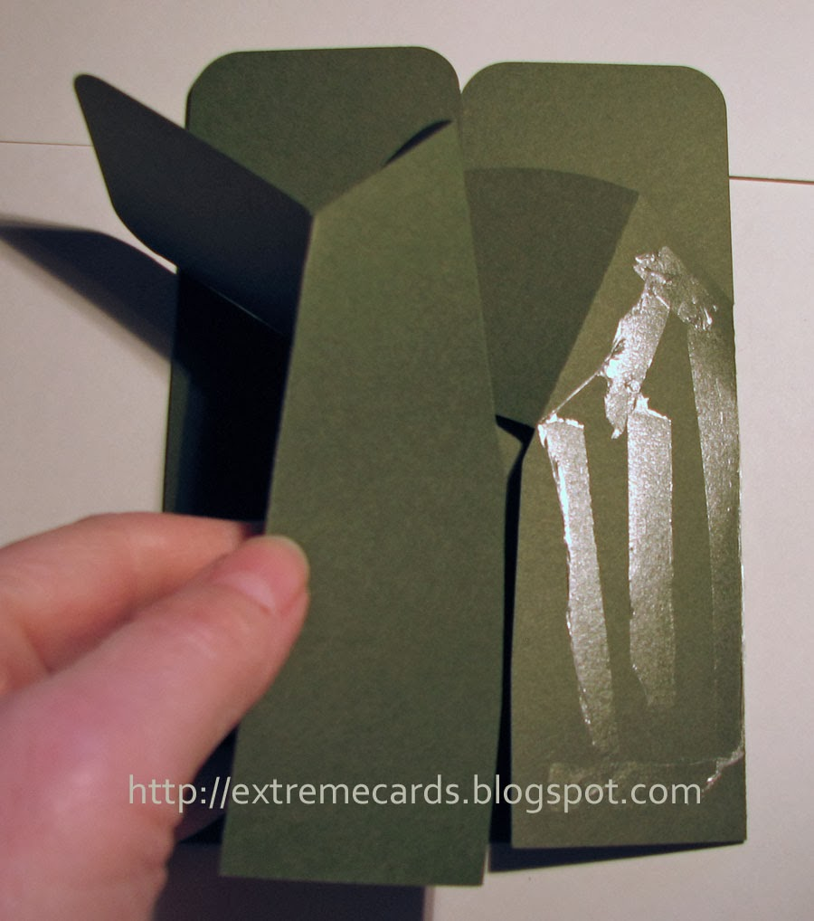 diagonal card in a box gluing