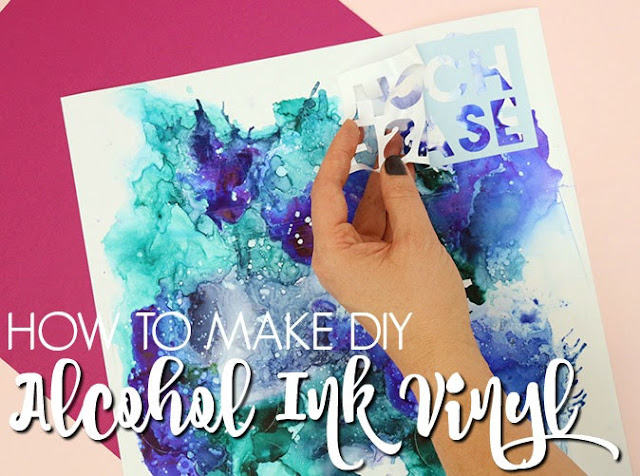 silhouette america blog, silhouette 101, alcohol ink, DIY vinyl sheets, DIY alcohol ink