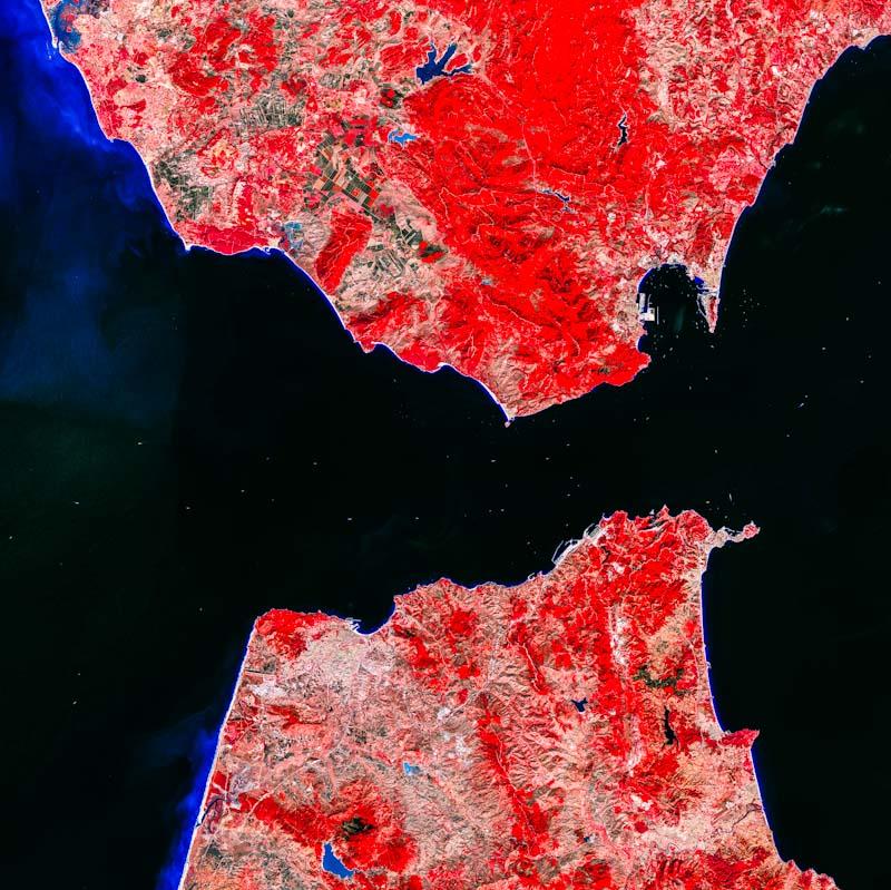 A Terra vista do espaço: Estreito de Gibraltar