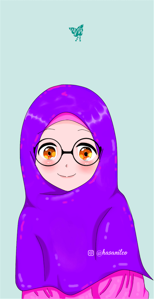 8 Wallpaper Muslim Muslimah Cartoon Glases Download HD
