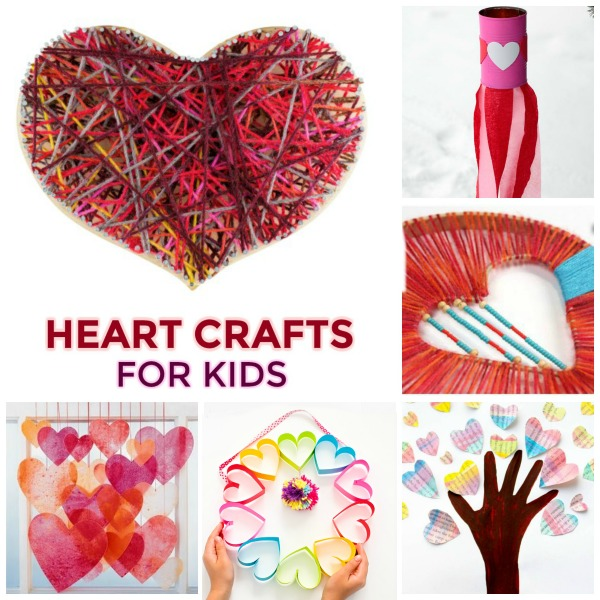 30+ HEART CRAFTS FOR KIDS- such cute ideas!!  Pin for later.  #heartcraftsforkids #craftsforkids #valentinescraftsforkids