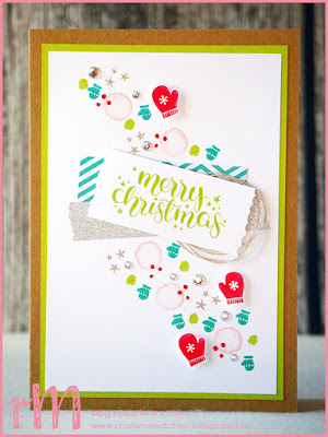 Stampin' Up! rosa Mädchen Kulmbach: Weihnachtskarten mit Washi Tape, Cheers to the Year, Mistletoe Friends, Weihnachten daheim, Itty Bitties, Jolly Bingo Bits und Reason to Smile