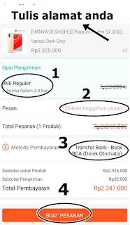 cara membayar produk di shopee