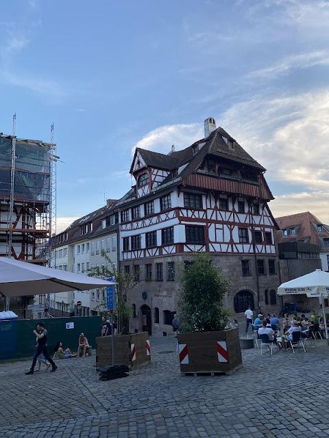 Altstadt von Nürnberg mit den malerischen Fachwerkhäusern