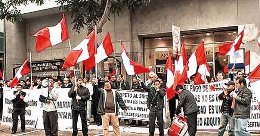 Cifra de trabajadores sindicalizados en el Perú aumentó en el sector público, según informe de la Autoridad Nacional del Servicio Civi - SERVIR