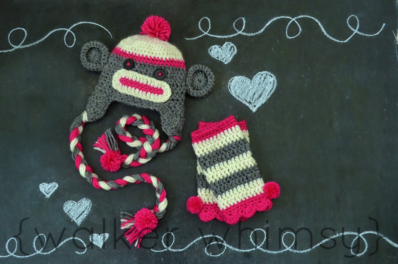 walker whimsy   Sock Monkey Hat   Leggings  14 Days of Fluffy Stuff  ff8d92802835