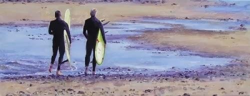 El surfing en el arte de Daggi Wallace