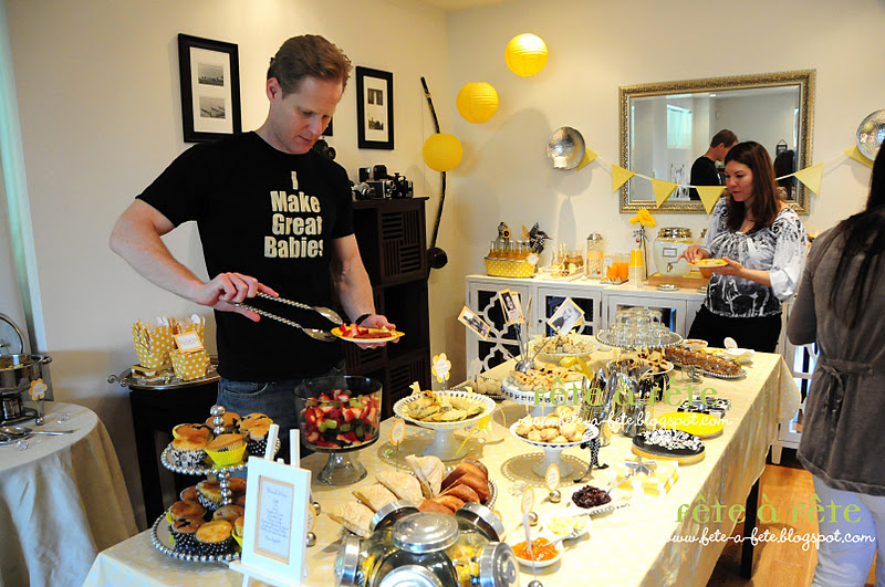 Fete A Fete A Black White Yellow Baby Shower Brunch