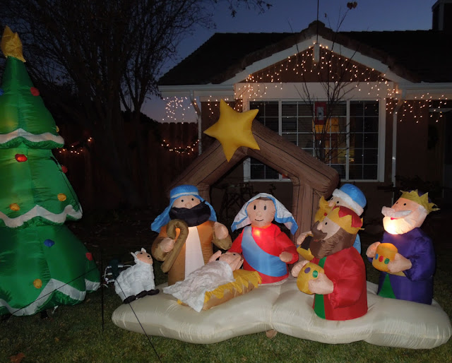 Simple Inflated Nativity Scene