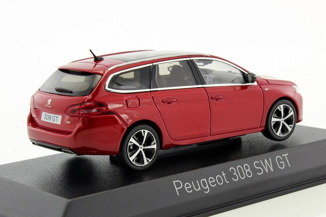 Peugeot 308 SW GT Kombi Magnetic Blau Ab 2014 1//43 Norev Modell Auto mit oder ..