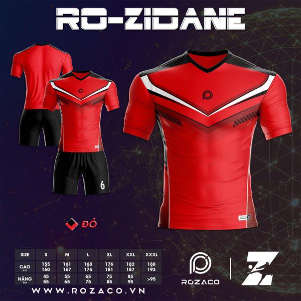 Áo Không Logo Rozaco RO-ZIDANE Màu Đỏ