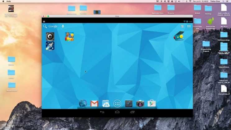 Andyroid, Windows ve Mac OS platformlarında rahatlıkla kullanılabilir.