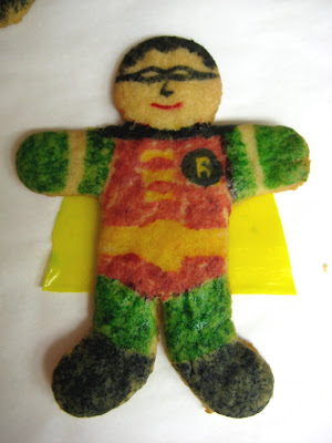 Robin Superhero Cookie Close-up