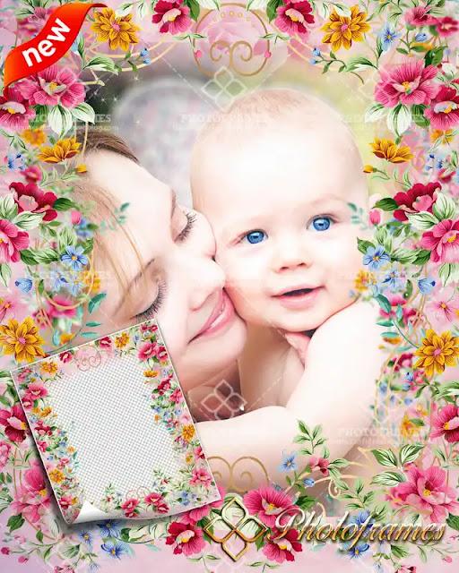 Marco para fotos del día de las madres y día internacional de la mujer