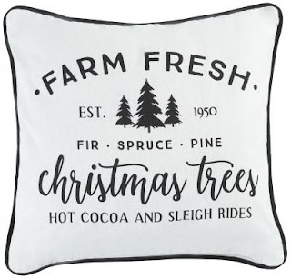 farm fresh Christmas trees pillow