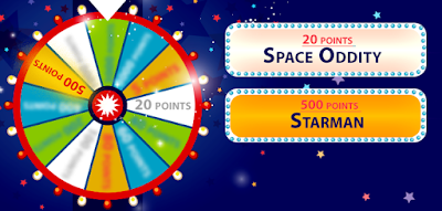 Look at the clues on the cards and score points! Which musician's are we referring to here? (image)