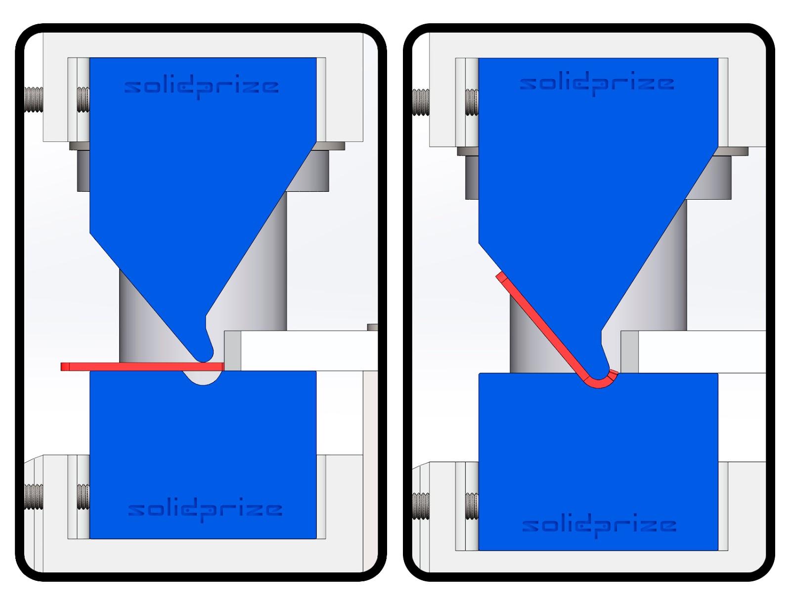 Matriz para prensar dobradiças