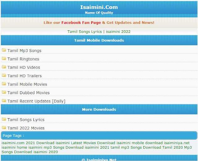 Isaimini Tamil Movies website