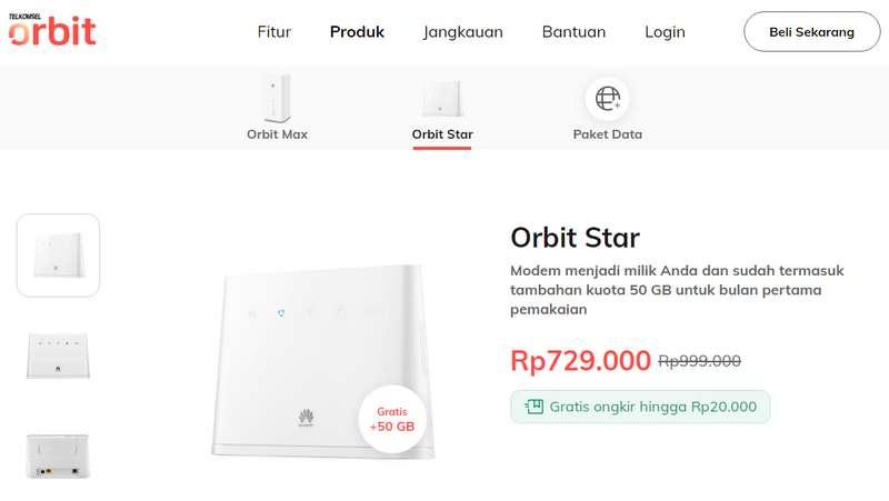 Harga Paket WiFi Telkomsel Orbit Star (myorbit.id)
