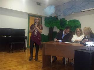Νικολέτα Χαλτούτα εκπρόσωπος της Περιφερειακής Ένωσης Κεντρικής Μακεδονίας του Πανελληνίου Συνδέσμου Τυφλών