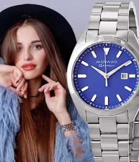 Movado Blue Dial Ladies Watch