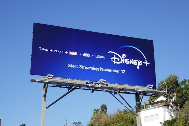 Disney+ launch billboard