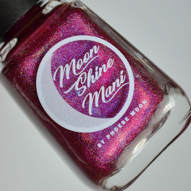 berry holographic nail polish