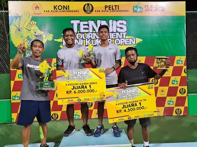 Gugun Juara Turnamen Tenis KONI Kukar Open 2020. Coach Bonit Wiryawan: Mudah-mudahan kedepannya bisa lebih baik
