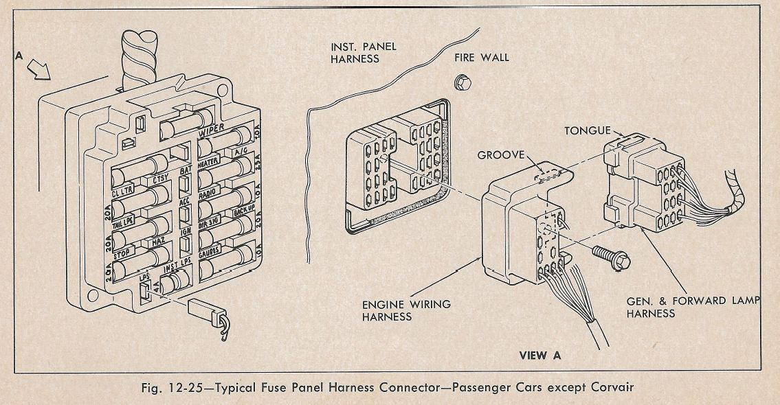 1970 Camaro Fuse Box Diagram - Wiring Diagram K7 on