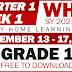GRADE 1 - UPDATED Weekly Home Learning Plan (WHLP) Quarter 1: WEEK 1