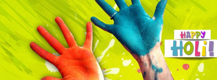 Happy Holi Facebook Cover
