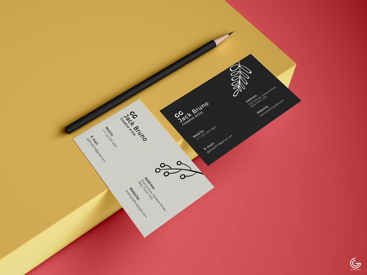 Business Card Mockup PSD 2019
