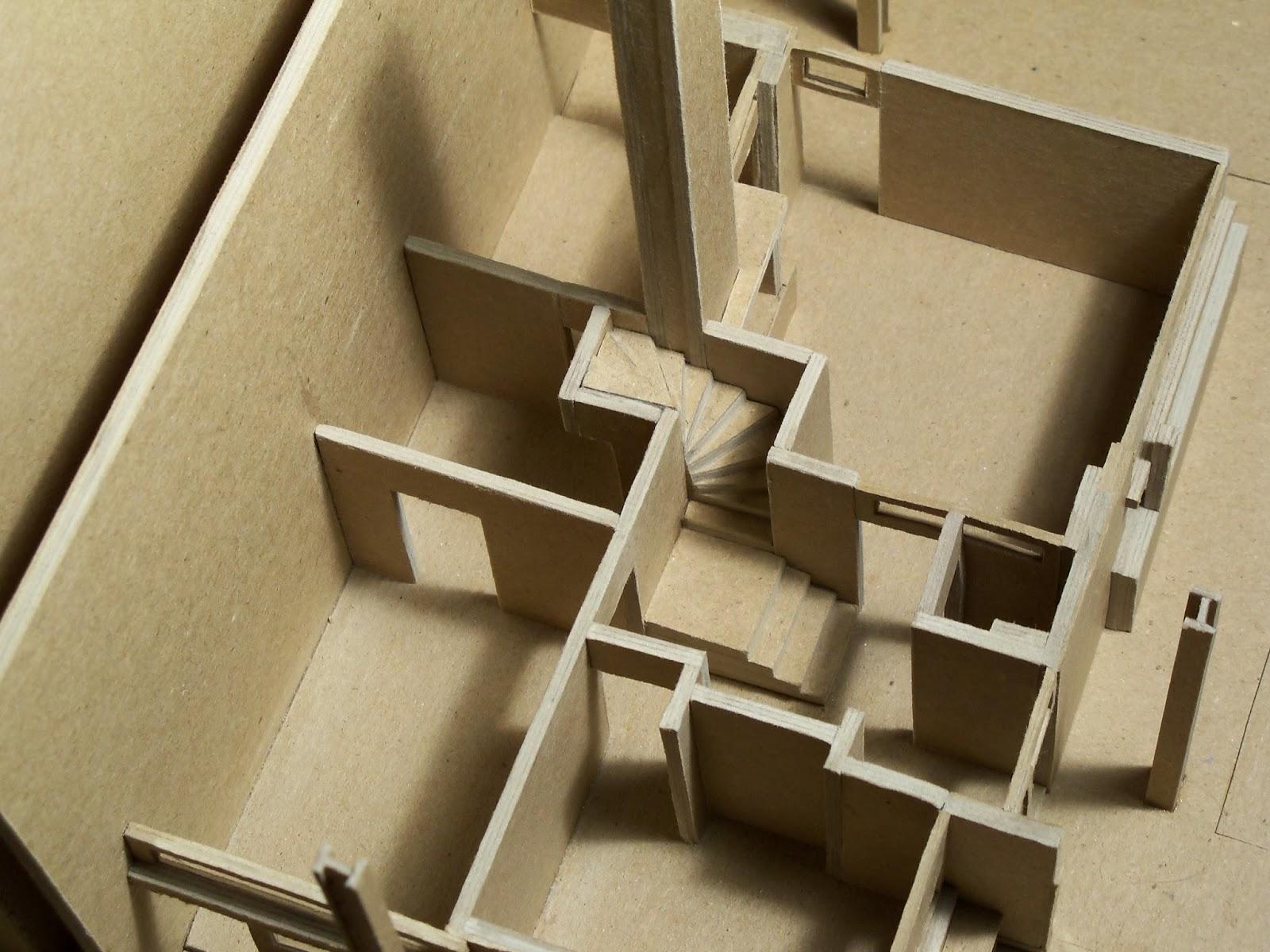 Edward Bauknight Designs Model of the Rietveld Schroder House