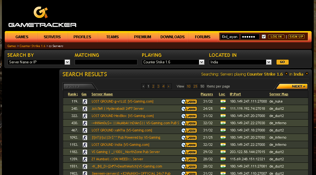gametracker - games online - play games online - servers - find servers to play online