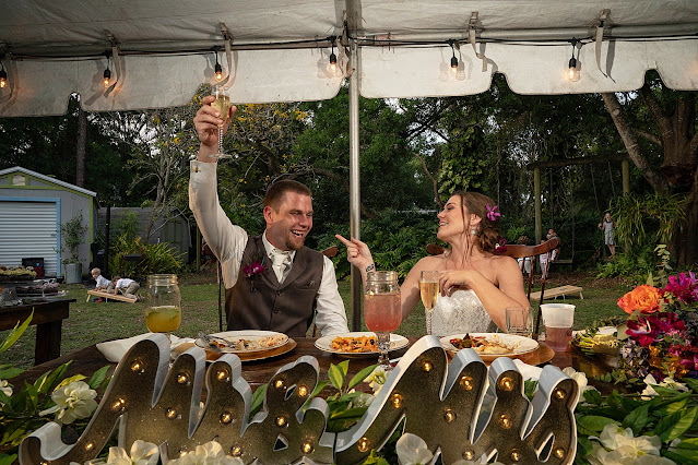wedding toast at Shadowood Farms wedding in Palm City Florida photo by Houghton Photography