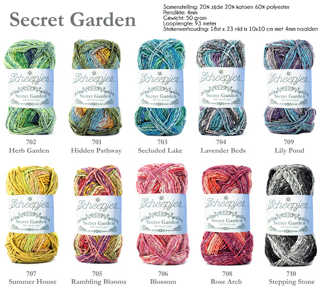 Scheepjes Secret Garden Yarn -- Silk Blend